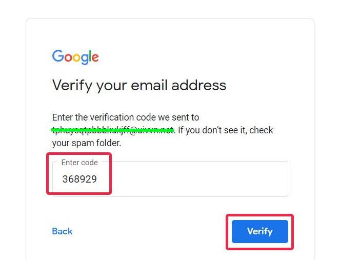 A step-by-step guide on leaving a GMB review without a Gmail account in 2021 - enter email verification code